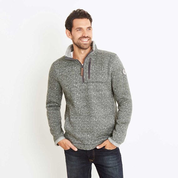 State 1/4 Zip Soft Knit Fleece Sweatshirt Olive