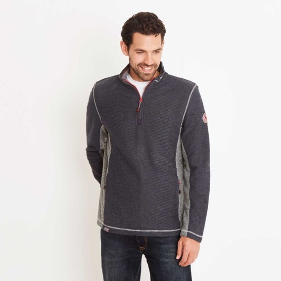 Vaileo 1/4 Zip Fleece Lined Macaroni Sweatshirt Blueberry