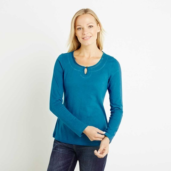 Aysun Long Sleeve Jersey Outfitter T-Shirt Blue Jay