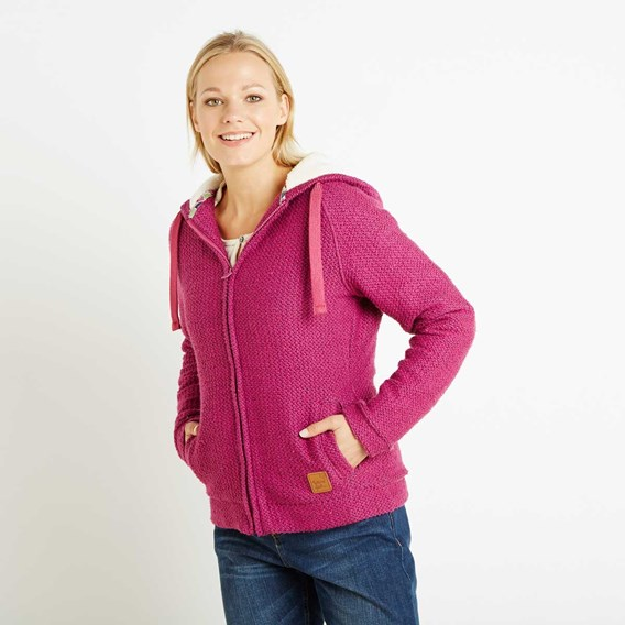 Pitville Full Zip Fleece Lined Macaroni Hoodie Sloeberry