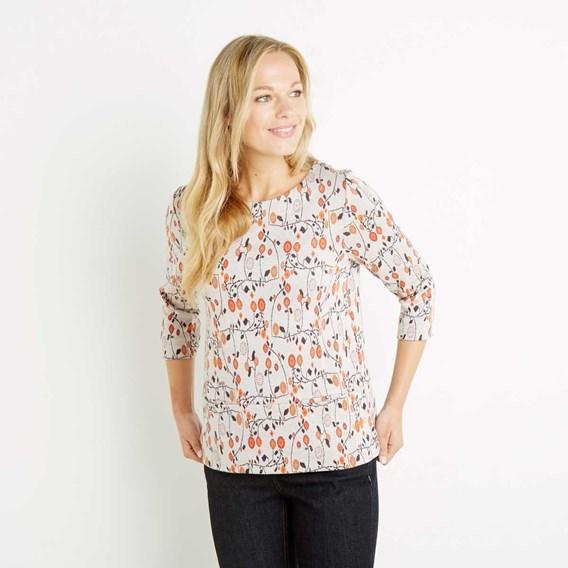 Jacobina Jacquard Pattern T-Shirt Porridge