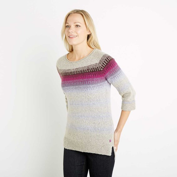 Arua Striped Knitted Jumper Porridge