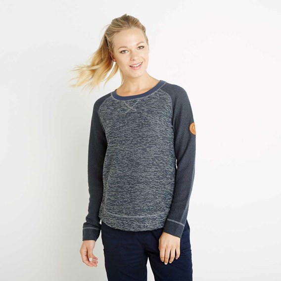 Fabia Active Macaroni Crew Neck Sweatshirt Dark Navy