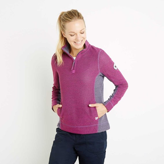 Emma 1/4 Zip Active Macaroni Sweatshirt Sloeberry