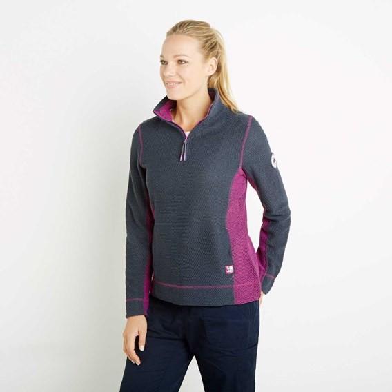 Emma 1/4 Zip Active Macaroni Sweatshirt Navy