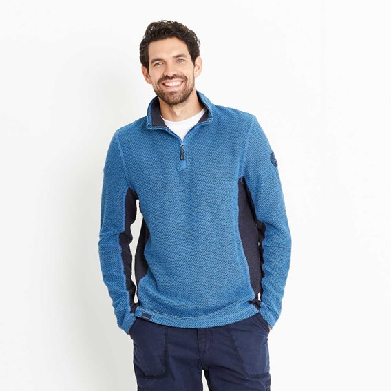 Siren 1/4 Zip Active Macaroni Sweatshirt Federal Blue