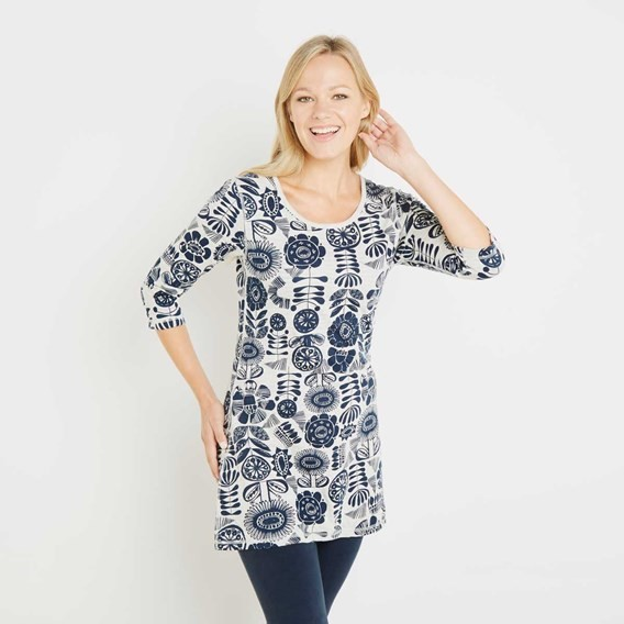 Haley Double Faced Jersey Tunic Dark Navy
