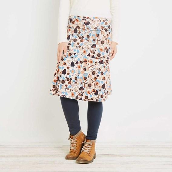 Malmo Printed Jersey Skirt Porridge
