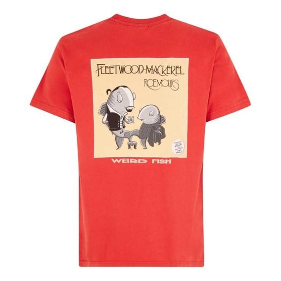 Fleetwood Mackerel Artist T-Shirt Tango Red