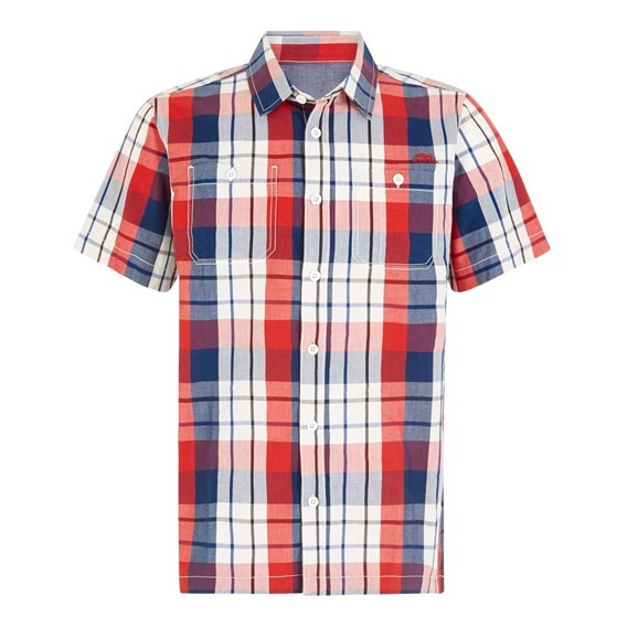 Farley Short Sleeve Check Shirt Estate Blue
