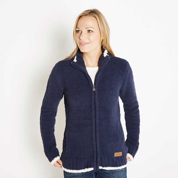 Luddington Full Zip Fur Knit Midnight