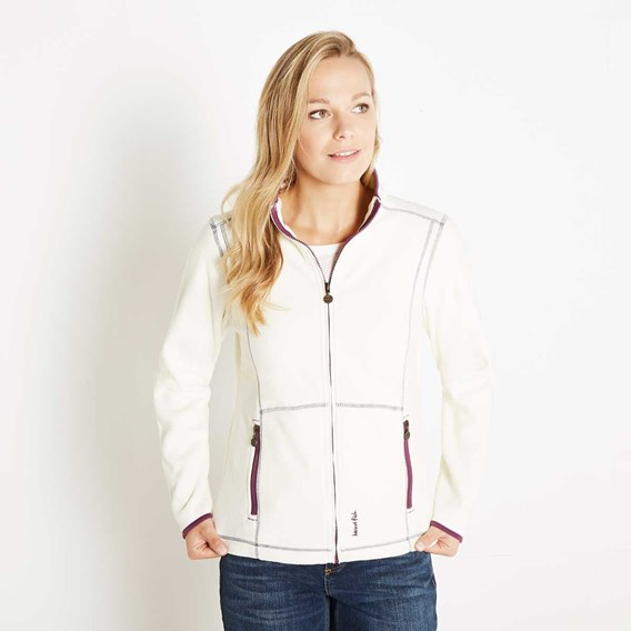 Christa Full Zip Microfleece Jacket Ivory