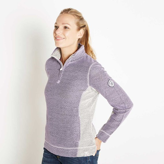 Emmie 1/4 Zip Active Macaroni Sweatshirt Lavender Grey