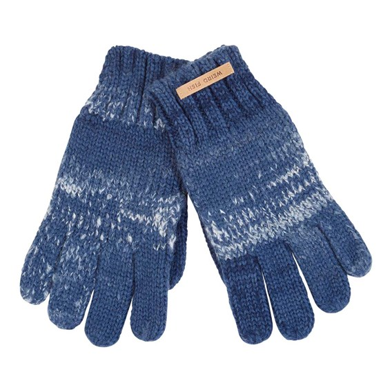 Jackson Twisted Rib Knit Gloves Ensign Blue