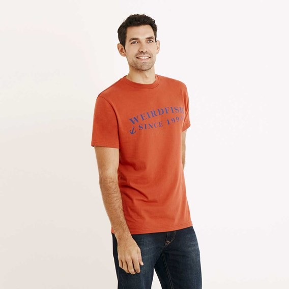 Anchor Graphic Print T-Shirt Tango Red
