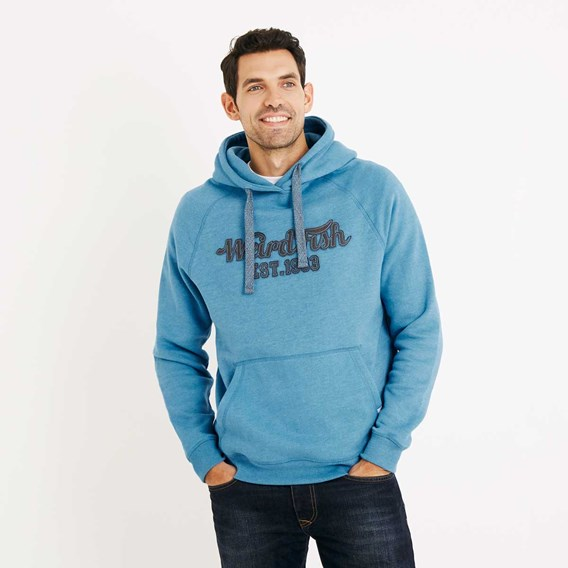 Rovern Graphic Appliqe Hoodie Blue Jay