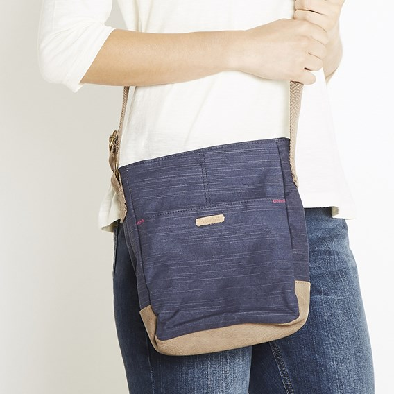 Betti Cotton Cross Body Bag Dark Navy