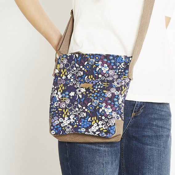 Amira Printed Cross Body Bag Indigo