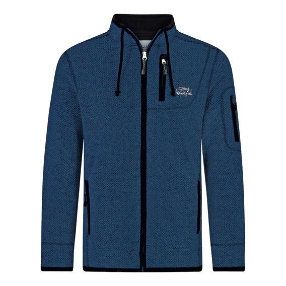 Teris Full Zip Technical Macaroni Sweatshirt Ensign Blue