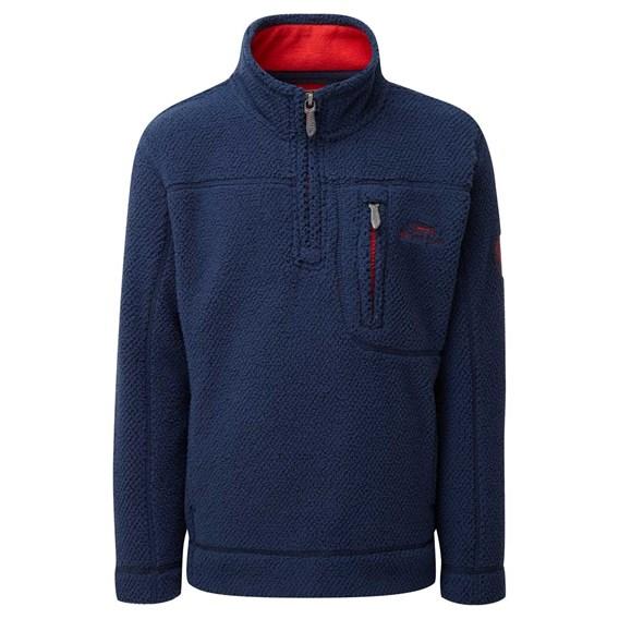 Tetra 1/4 Zip Soft Knit Top Insignia Blue