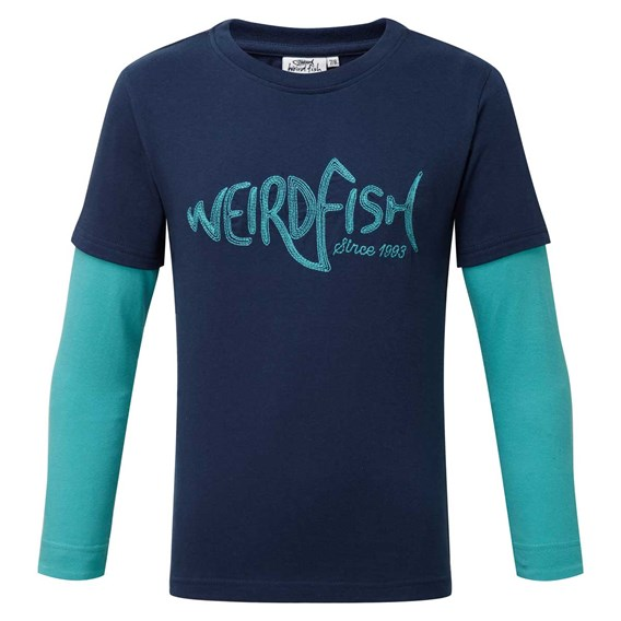 Shark Long Sleeve Graphic Print T-Shirt Insignia Blue