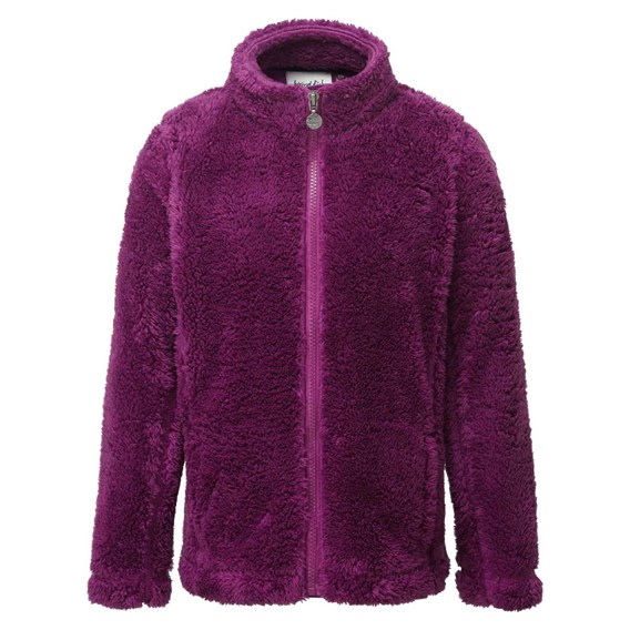 Anna Full Zip Twisted Fleece Sloeberry
