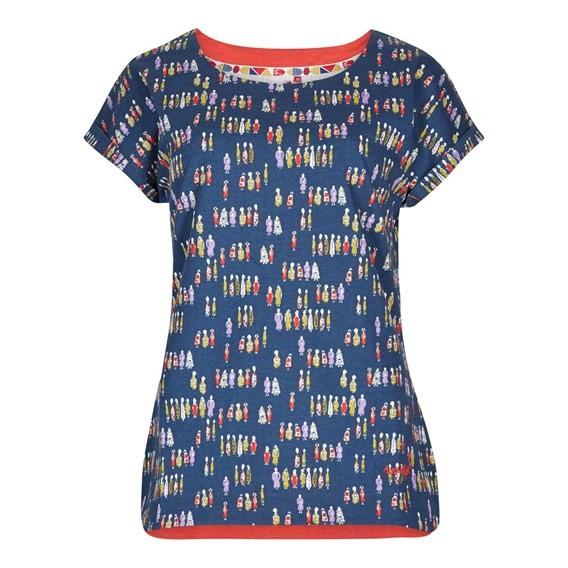Paw Paw Printed Jersey T-Shirt Navy