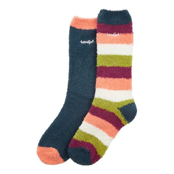 Park Fluffy Sock 2 Pack Dusty Teal