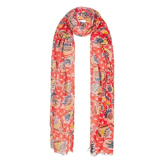 Alverton All Over Print Scarf Tango Red
