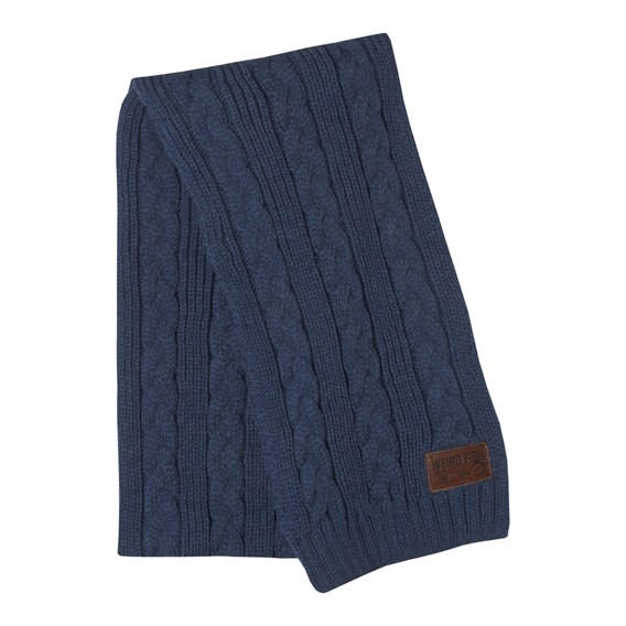 Forster Cable Knit Scarf Light Navy