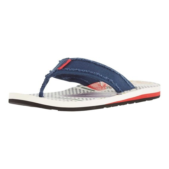 Salcombe Printed Flip Flop Light Cream