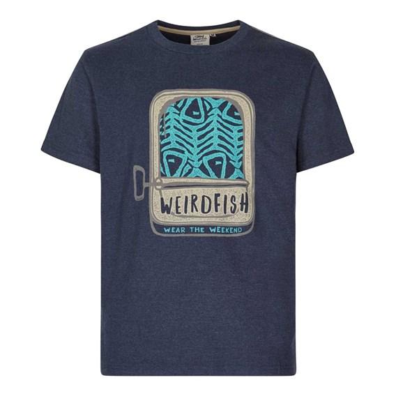 Sardines Graphic Print T-Shirt Maritime Blue Marl