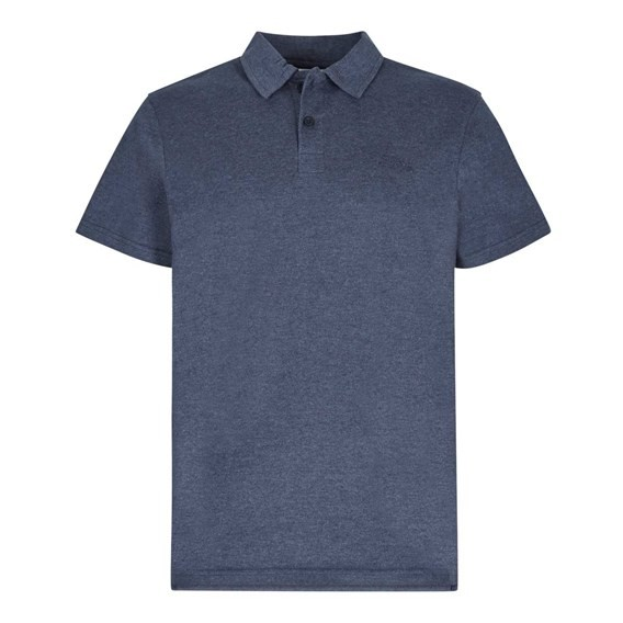 Andy Embroidered Logo Jersey Polo Shirt Maritime Blue Marl