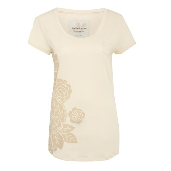 Lyssa Long Length Tee Cream