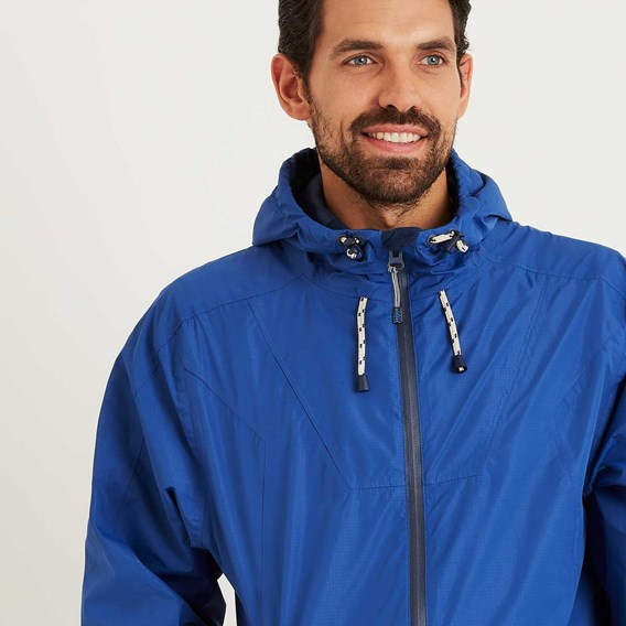 Prescott Fully Waterproof Hooded Jacket Deep Ocean