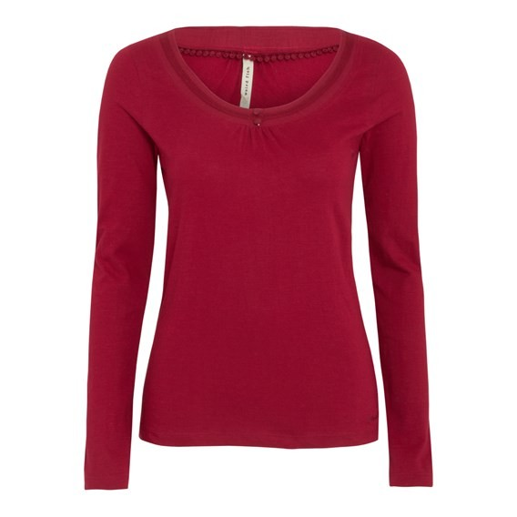 Ionia Long Sleeve Top Red