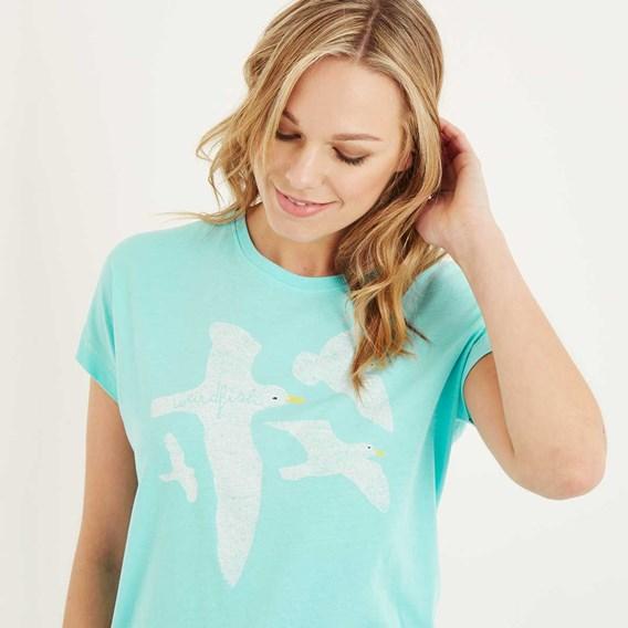 Seagull Graphic T-Shirt Aqua Sky