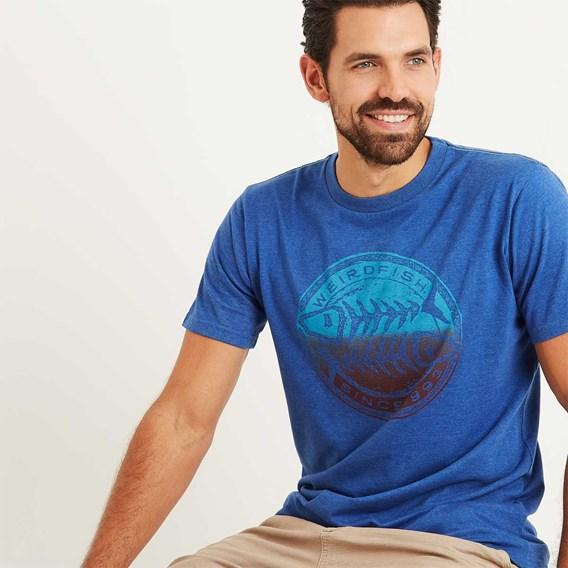 Gradient Bones Graphic Print T-Shirt Deep Ocean Marl