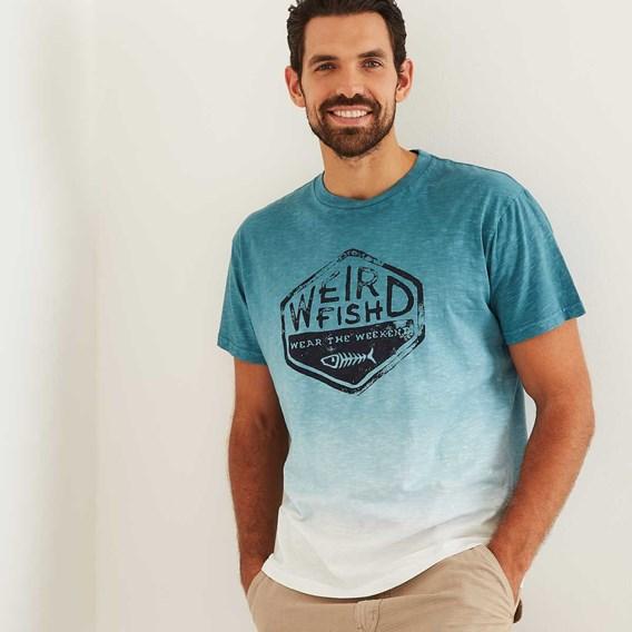 Onslow Graphic Print Dip Dyed T-Shirt Menthol