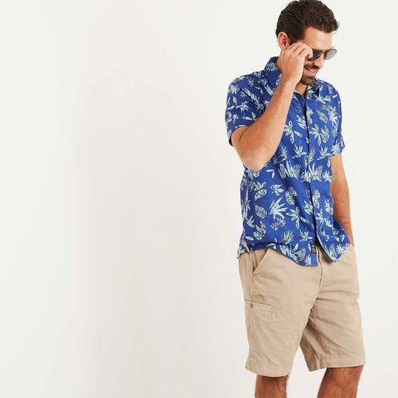 Mullins Hawaiian Short Sleeve Shirt Deep Ocean