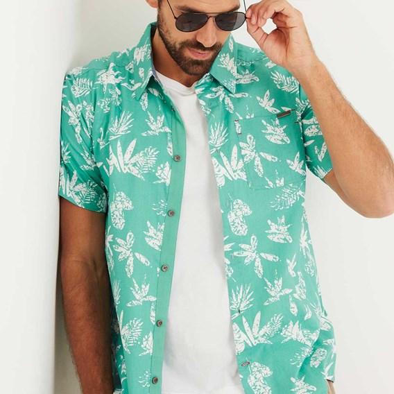 Mullins Hawaiian Short Sleeve Shirt Menthol