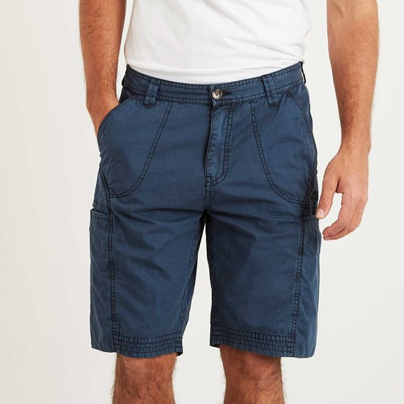 Coltrane Cotton Walking Short Maritime Blue