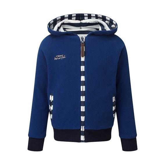 Dayton Reverseable Hooded Fleece Jacket Deep Ocean