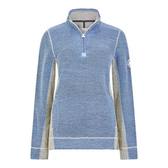 Emmie 1/4 Zip Active Macaroni Sweatshirt Cloud Blue
