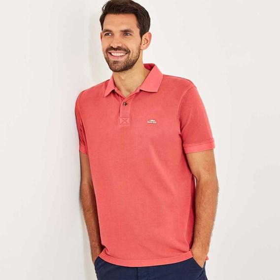 Edwin Garment Dyed Polo Shirt Baked Apple