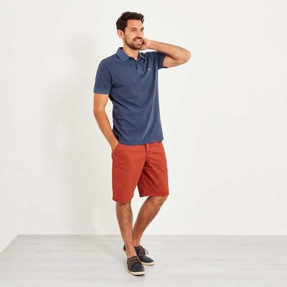 Edwin Garment Dyed Polo Shirt Maritime Blue