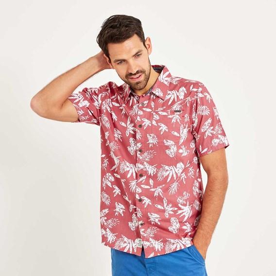 Mullins Hawaiian Short Sleeve Shirt Rose