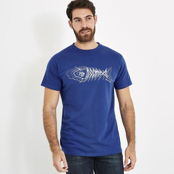 Scribble Branded Tee Deep Ocean
