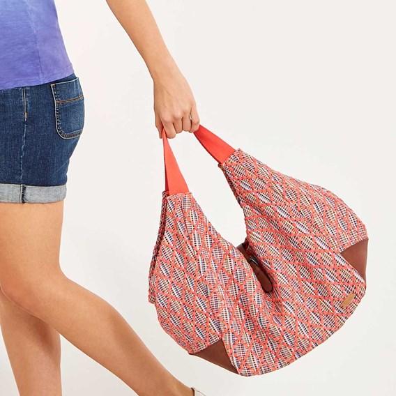 Maidan Jacquard Shopper Bag Dusty Orange