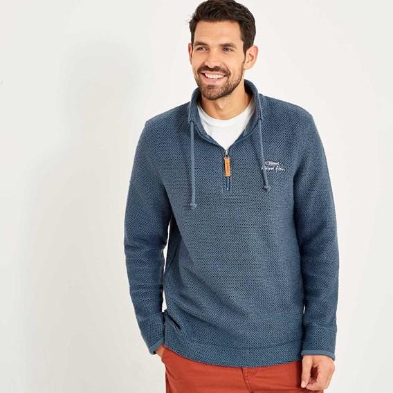 Skipper 1/4 Zip Classic Macaroni Sweatshirt Ensign Blue
